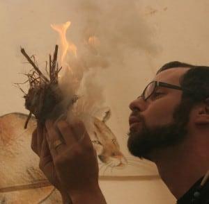 Storyteller Brian Rohr Calling Fire